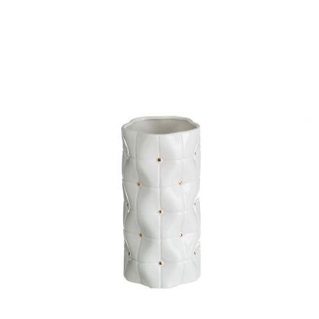Vaze - Vaza din ceramica Abbey 25cm, alb/ auriu