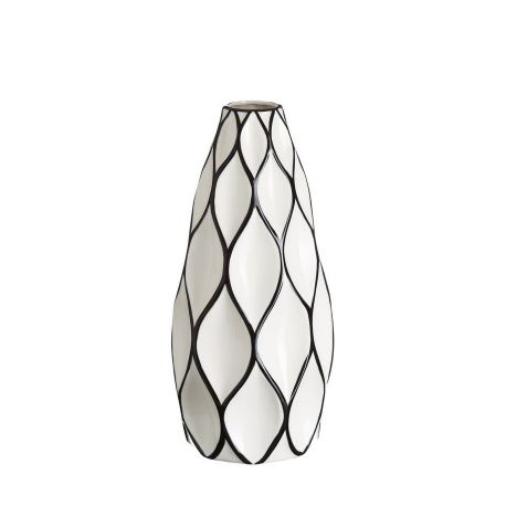 Vaze - Vaza din ceramica Romb 39cm alb/ negru