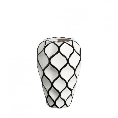 Vaze - Vaza din ceramica Romb 34cm alb/ negru