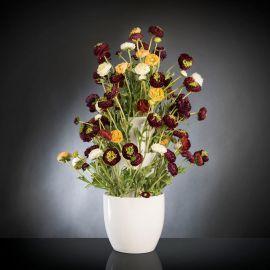 Aranjament floral BABILON RANUNCOLO BIG 95cm, multicolor