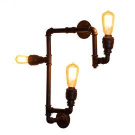 Aplice, corpuri de iluminat pentru pereti - Aplica design industrial Hot Pipe II negru