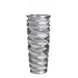 Vaze - Vaza, Vas decorativ argintiu, inaltime 88cm Plata