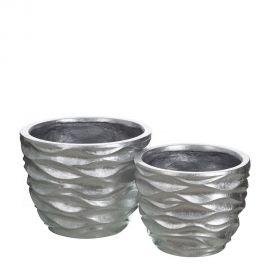 Vaze - Set 2 vase decorative argintii, Plata