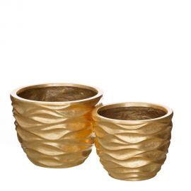 Vaze - Set 2 vase decorative aurii, ORO