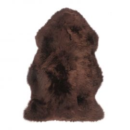 Covor din piele de oaie LW Premium 105cm CHOCOLATE