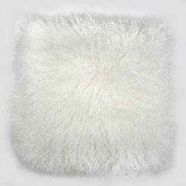 Perne si fete de perne - Perna cu piele de oaie LW Tibetan 50x50cm Velvet Ivory