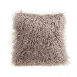 Perne si fete de perne - Perna cu piele de oaie LW Tibetan 50x50cm Velvet Birch