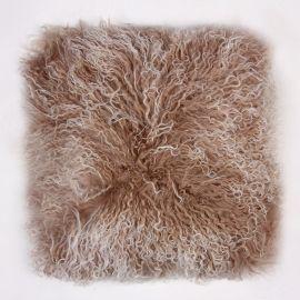 Perne si fete de perne - Perna cu piele de oaie LW Tibetan 50x50cm Velvet Shell