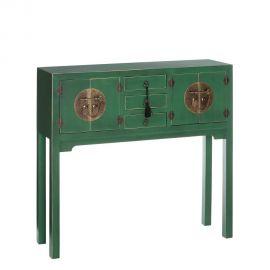 Console - Consola ORIENT, 4 usi verde
