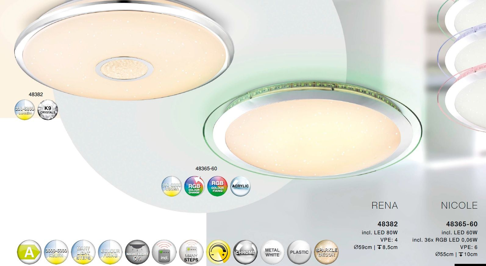 Plafoniera Led Cu Telecomanda : Corpuri de iluminat plafoniera led cu telecomanda design modern nic