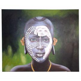 Tablouri - Tablou decorativ Negro cara puntos, 120x150cm