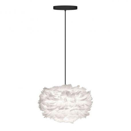 Pendule, Lustre suspendate - Pendul modern cu pene de gasca EOS alb, 35cm