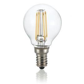 Becuri E14 - Bec LED E14 4W SFERA TRASPARENTE 3000K