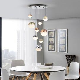 Pendule, Lustre suspendate - Lustra LED dimabila design modern cu 9 pendule Sphere