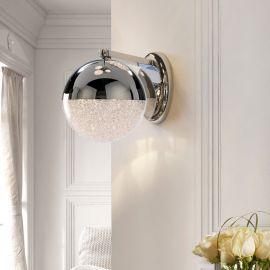 Aplice, corpuri de iluminat pentru pereti - Aplica LED design modern Sphere crom
