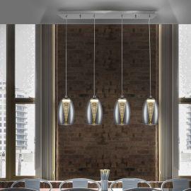 Pendule, Lustre suspendate - Lustra LED design modern cu 4 pendule Nebula
