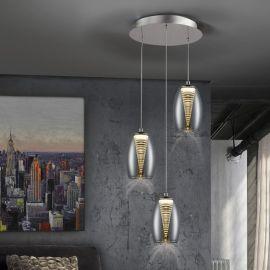 Pendule, Lustre suspendate - Lustra LED design modern cu 3 pendule Nebula