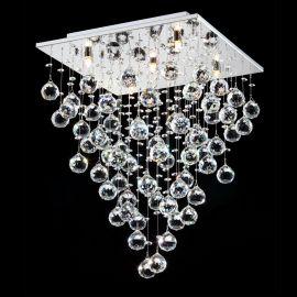 Lustra aplicata cu cristale suspendate Swirl, 40x40cm