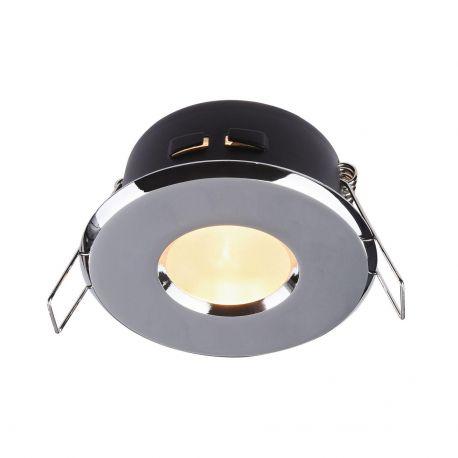 Iluminat pentru baie - Spot incastrabil cu protectie IP44 Metal 8,4cm, crom
