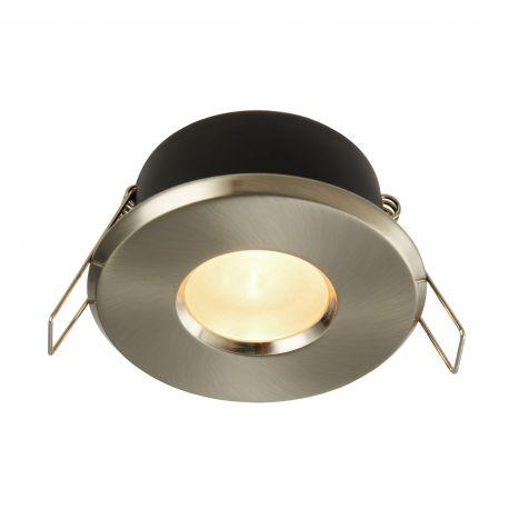 Iluminat pentru baie - Spot incastrabil cu protectie IP44 Metal 8,4cm, nickel satinat