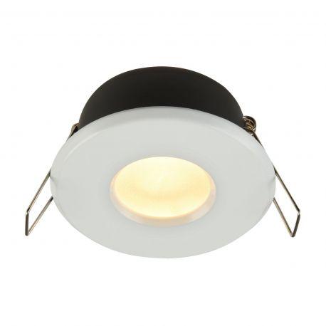 Iluminat pentru baie - Spot incastrabil cu protectie IP44 Metal 8,4cm, alb