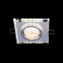 Spoturi tavan fals - Spot incastrabil metal si sticla alba