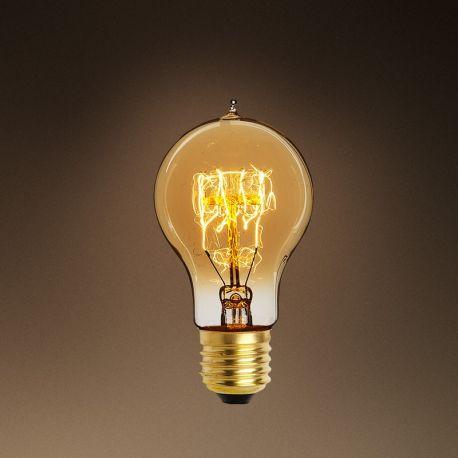 Becuri E27 - Set de 6 becuri E27 Edison shape goldline filament