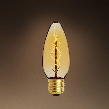 Becuri E27 - Set de 6 becuri E27 Edison lumanare goldline filament