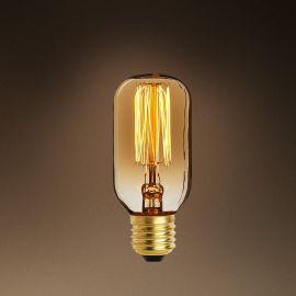 Becuri E27 - Set de 6 becuri E27 Edison Compact goldline filament