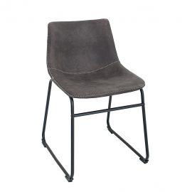 Seturi scaune, HoReCa - Set de 2 scaune Django gri vintage