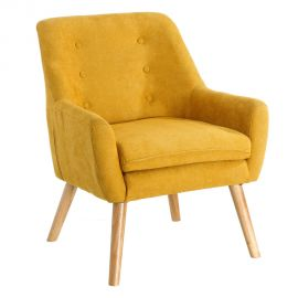 Fotoliu confortabil, elegant MODERNO, galben