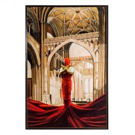 Tablou decorativ IGLESIA rosu, 116x175cm