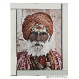Tablou decorativ, cadru din oglinda Old Man, 75x95cm