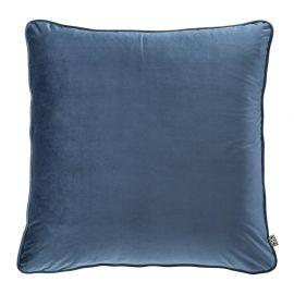 Perne si fete de perne - Perna decorativa din catifea albastra Roche, 60x60cm