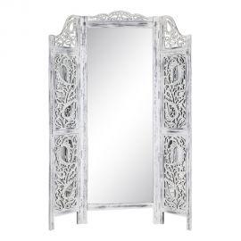 Garderobe - Paravan decorativ cu oglinda, design vintage BLANCO