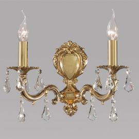 Aplice, corpuri de iluminat pentru pereti - Aplica cu 2 brate design LUX, cristale Asfour Monica