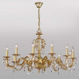 Candelabre, Lustre - Candelabru 12 brate design LUX, cristale Asfour Monica