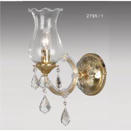 Aplice - Aplica cu 1 brat, design LUX, placat cu aur si cristale Asfour, Anais