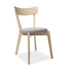 Scaune - Scaun modern din lemn cu sezut tapitat, NELSON gri