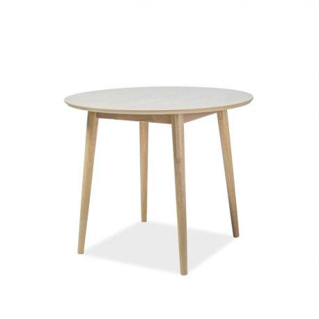 Mese dining - Masa moderna din lemn de stejar, NELSON, 90cm