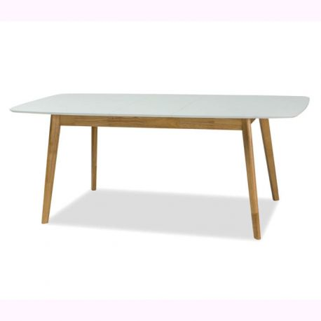 Mese extensibile - Masa extensibila design nordic FELICIO II alb/ stejar, 150-190X90cm