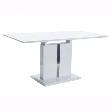 Mese extensibile - Masa extensibila design modern DALLAS alb lucios, 110-150X75cm