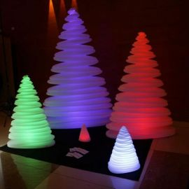 Obiecte decorative - Brad Decorativ CHRISMY 0,5m ILUMINAT LED RGB
