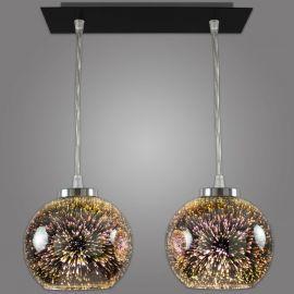 Pendule, Lustre suspendate - Lustra moderna cu 2 pendule KULE 3D
