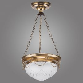 Lustra suspendata decorata cu lant, design clasic, RINAMA