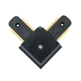 Conector, Accesoriu sina metalica neagra pentru spoturile Galax, Rony, Rondo CON 2L BL
