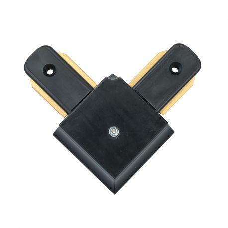 Spoturi, Proiectoare pe sina - Conector, Accesoriu sina metalica neagra pentru spoturile Galax, Rony, Rondo CON 2L BL