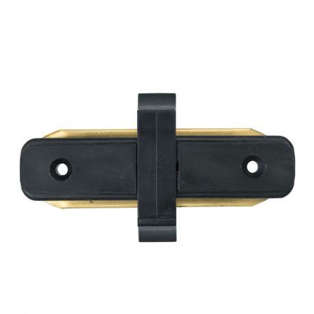 Spoturi, Proiectoare pe sina - Conector, Accesoriu sina metalica neagra pentru spoturile Galax, Rony, Rondo CON 2I BL