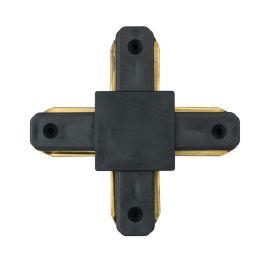Conector, Accesoriu sina metalica neagra pentru spoturile Galax, Rony, Rondo CON 2X BL