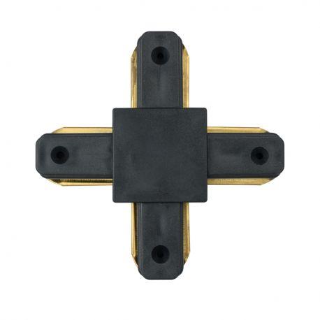 Spoturi, Proiectoare pe sina - Accesoriu prindere sina metalica neagra de spoturi Galax, Rony, Rondo CON 2X BL